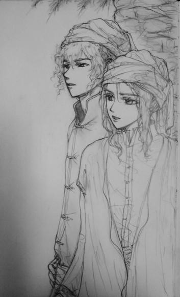 アーネスト&セリス、イメージ画(鉛筆)