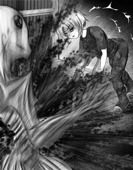 『異世界の姫さまが空から降ってきたとき』第二十九話の挿絵