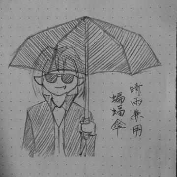 晴雨兼用蝙蝠傘