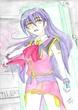 紫髪の・・・