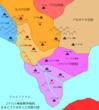 コナハト解放戦争地図 AAC758年10月勢力図