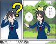 美JCと猫耳は神社によく映える! 漫画チックイラスト
