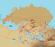 北半球地図