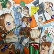 階段アートの原画
