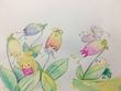 妖精と花のイラスト