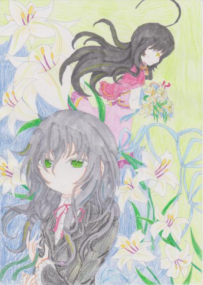 レティーシャとカミーユのイラスト