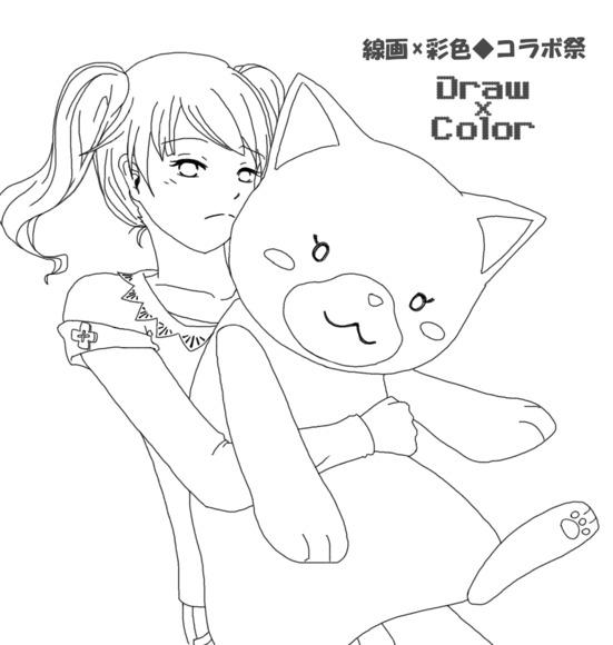 【線画×彩色】猫が好き