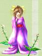 【コラボ侍】宵の街の花・繻子蘭