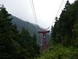 中央アルプス駒ヶ岳ロープウェイの架線