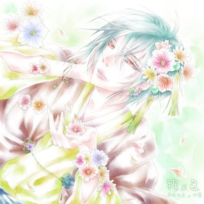【線×色】花の声がする(線画:花垣ゆえ さま)