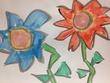 落書き風のお花さん。