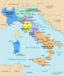 Map of Italy in 1843.