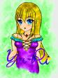 雪音ちゃんの異世界転生_紫の服_水彩