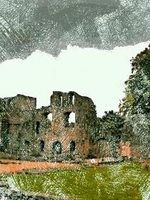 「胡桃の中の蜃気楼」廃墟の城跡 挿絵