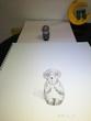 モデル 木彫りのフクロウ