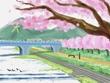 春の加茂川(完成)