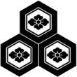 家紋【三つ盛亀甲】