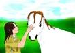 遊牧少女は世界に挑戦する(表紙絵)