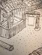 中庭の屋台