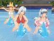 豊川美紀ママと娘二人の水遊び