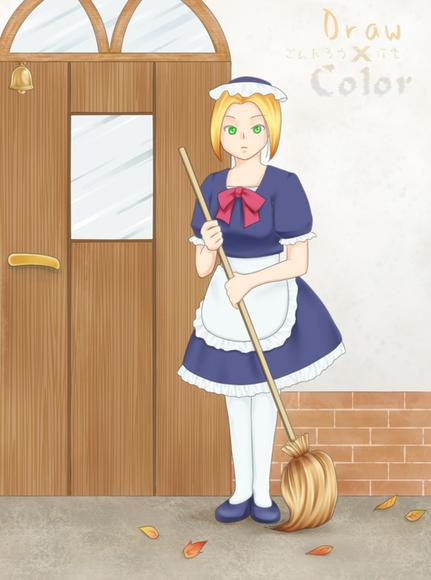 【線×色Ⅳ】メイドさんラフ(ごんたろうさまのラフ)