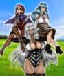 コラボイラスト 超常の神剣タキオンソード&サタナエル・サガ