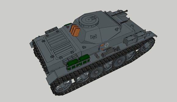 I号戦車C型後方参考図