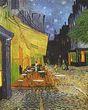 Terrasse du café la nuit