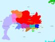 アトランティス大陸地図