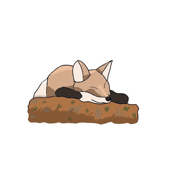 気持ち良さそうに眠る何か