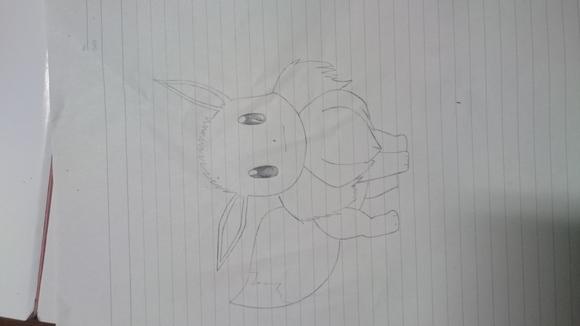 イーブイの模写