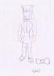 サラちゃんのラフ画+ラクガキ