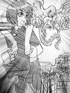 蒼の魔法士第1話 挿絵