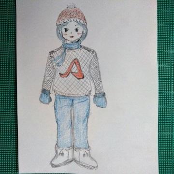アデリーと冬服