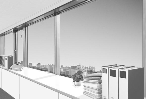 職場の風景(窓際)