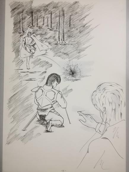 小説イラスト ペン2
