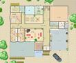 遺跡上に建てた拠点施設・1階間取り図(完成版)