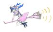 ホウキに乗る魔法少女ユリカ