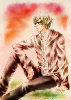 【線×色】青少年(線画:まない さま)