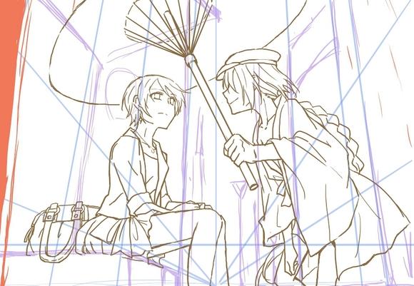 A rainy day 下書き