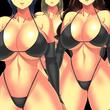 黒ビキニ巨乳女戦闘員