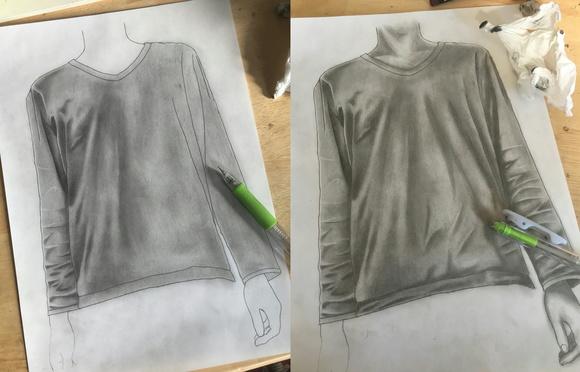 描いてる途中の絵