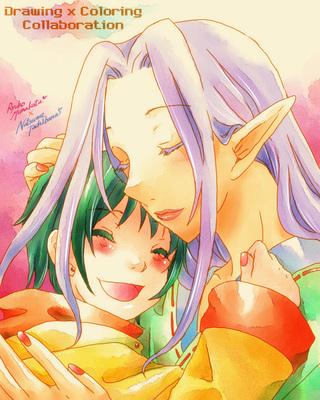 【線画×彩色◆コラボ祭】宗像竜子さんの線画とコラボ♪