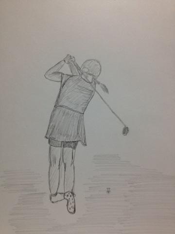 女子・ゴルフ。
