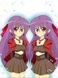 双子美少女踊り子姉妹(千夜の一夜な境界ランプ挿絵)