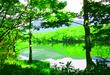 知床五湖2(水彩画風)