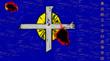 燃え上がる十字台高校学校旗