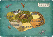エリュシア大陸地図