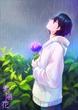 『花詩集』第35回「紫陽花」挿絵