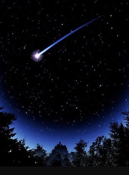 漆黒の空を翔流星